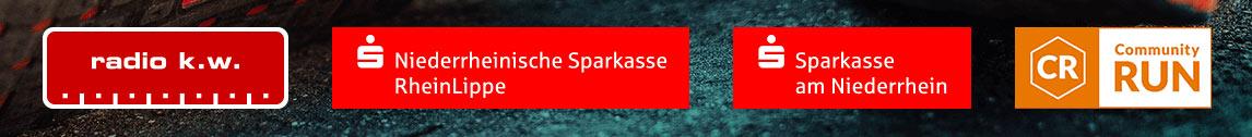 Präsentiert von Radio K.W., Sparkasse am Niederrhein, Niederrheinische Sparkasse Rhein-Lippe, CommunityRUN